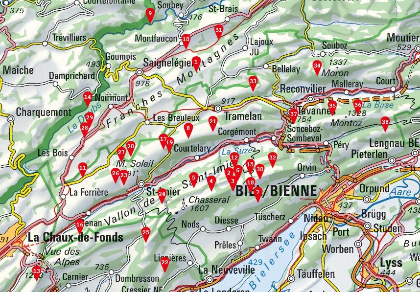 Métairies Nord Du Lac De Bienne Randonnée Dans Le Jura